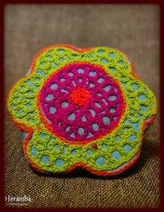 Rochie lana cu broderie made in India